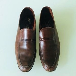 Bally men's brown leather shoes size 10